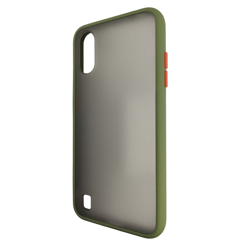 Чохол Totu Copy Gingle Series for Samsung A01 (A015) Dark Green+Orange - 3