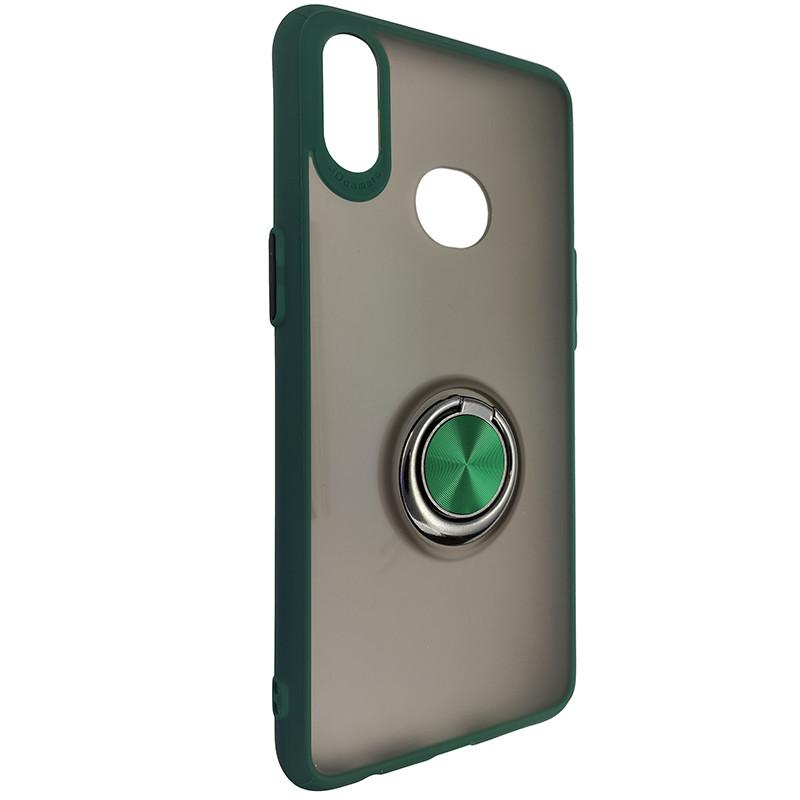 Чохол Totu Copy Ring Case Samsung A10S Green+Black - 1