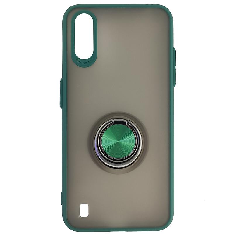 Чохол Totu Copy Ring Case Samsung A01 (A015) Green+Black - 4