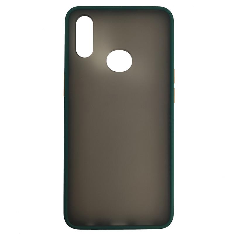 Чохол Totu Copy Gingle Series for Samsung A10S Dark Green+Orange - 2