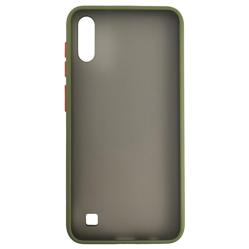 Чохол Totu Copy Gingle Series for Samsung A10 Dark Green+Orange - 2