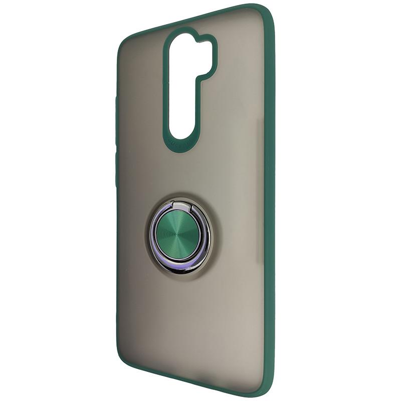 Чохол Totu Copy Ring Case Xiaomi Redmi Note 8 Pro Green+Black - 3