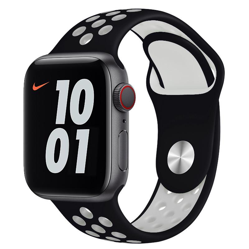 Ремінець для Apple Watch (42-44mm) Nike Sport Band Black/White - 2