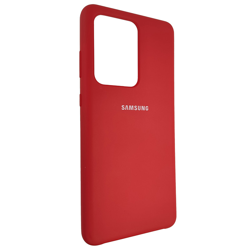 Чохол Silicone Case for Samsung S20 Ultra Red (14) - 2