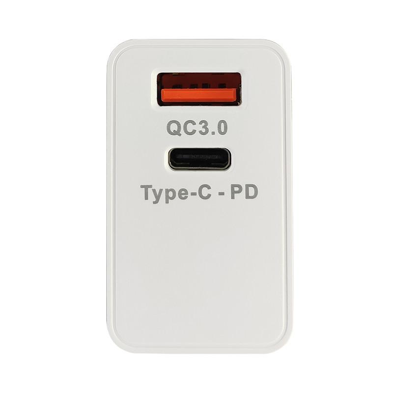 Зарядний пристрій Konfulon C59 1xUSB, 1xPD+QC 3.0 White - 3