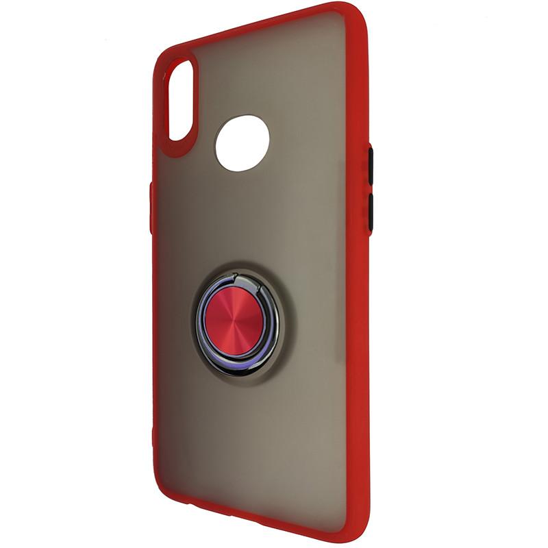 Чохол Totu Copy Ring Case Samsung A10S Red+Black - 3
