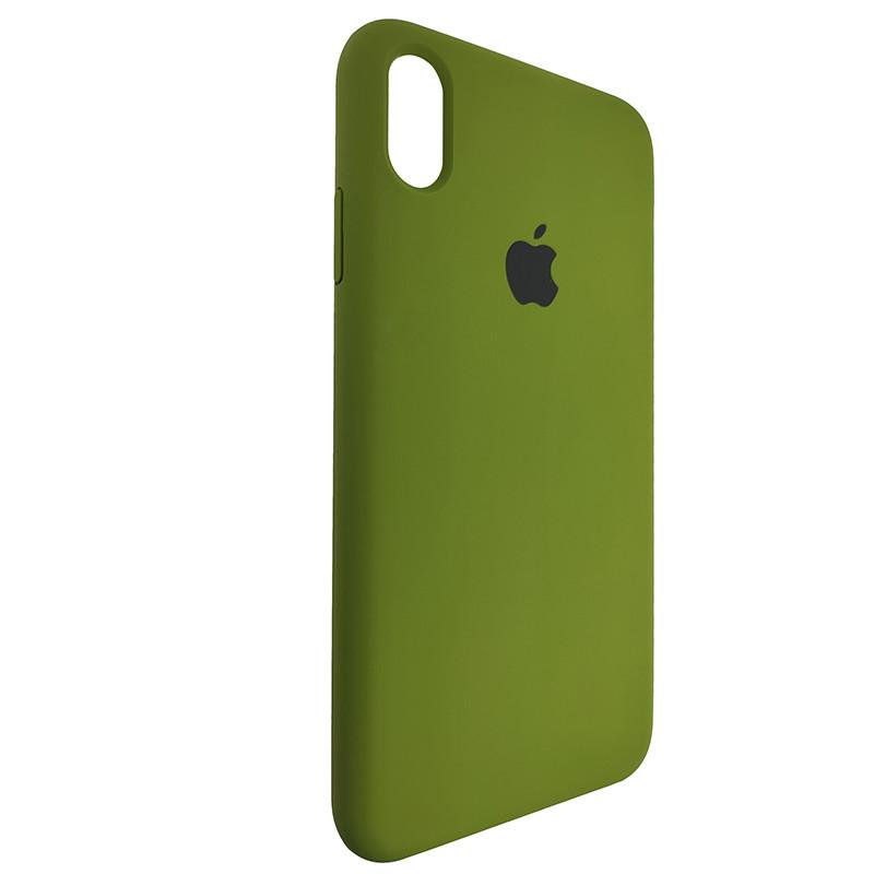 Чохол Copy Silicone Case iPhone XS Max Dark Green (48) - 1