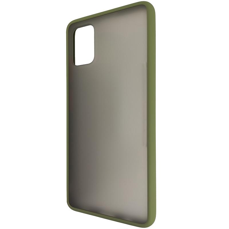 Чохол Totu Copy Gingle Series for Samsung A51/M40S Dark Green+Orange - 2