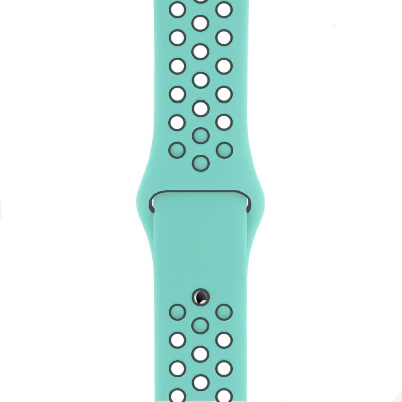 Ремінець для Apple Watch (42-44mm) Nike Sport Band Ocean Blue/Black - 1