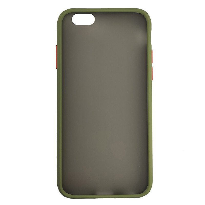 Чохол Totu Copy Gingle Series for iPhone 6 Dark Green+Orange - 2