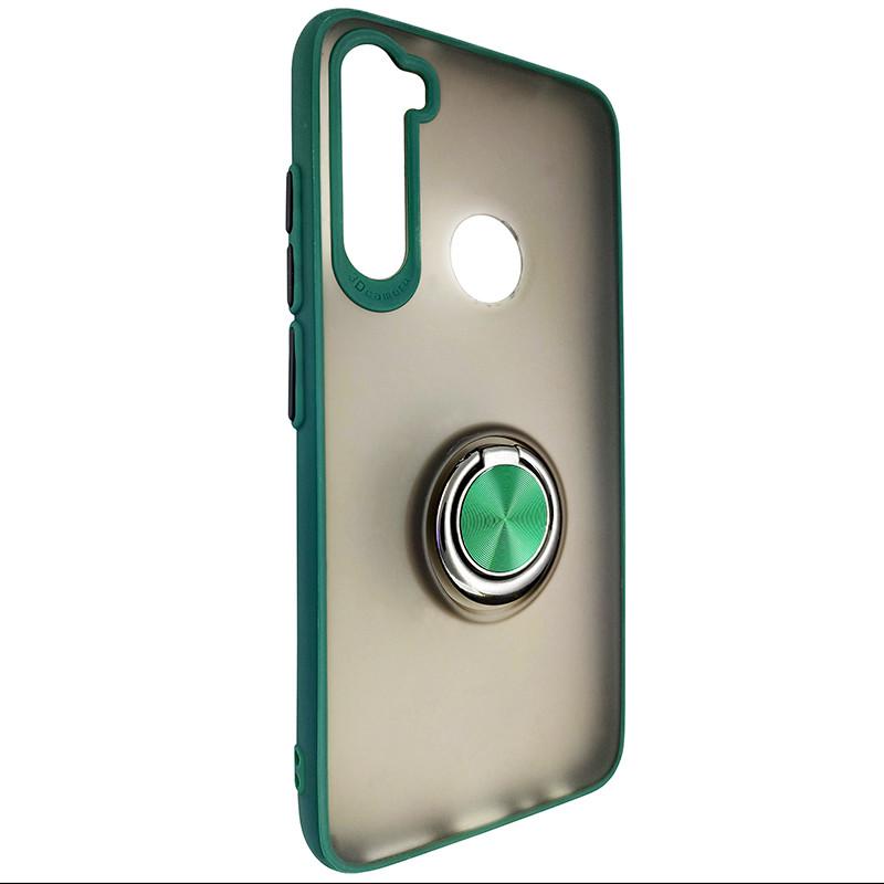 Чохол Totu Copy Ring Case Xiaomi Redmi Note 8 Green+Black - 1