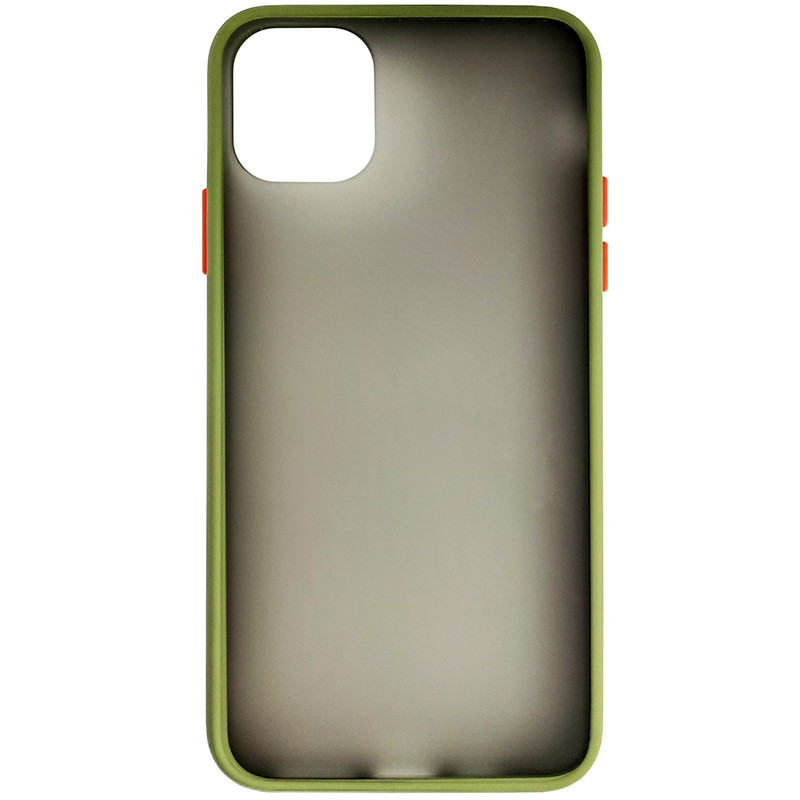 Чохол Totu Copy Gingle Series for iPhone 11 Pro Max Dark Green+Orange - 3