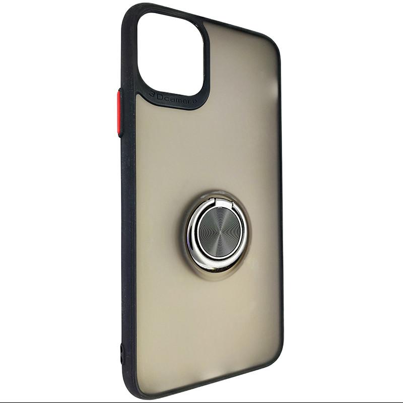 Чехол Totu Copy Ring Case iPhone 11 Pro Max Black+Red - 1