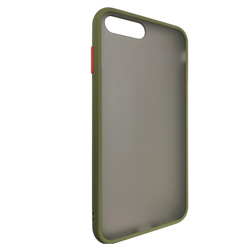 Чохол Totu Copy Gingle Series for iPhone 7/8 Plus Dark Green+Orange - 1