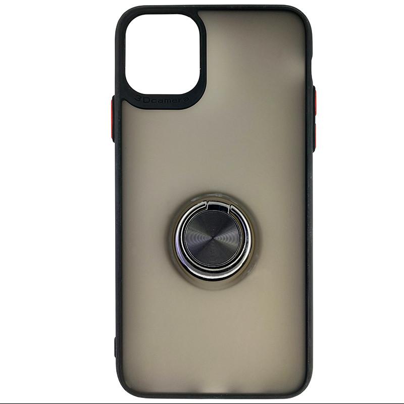Чехол Totu Copy Ring Case iPhone 11 Pro Max Black+Red - 3