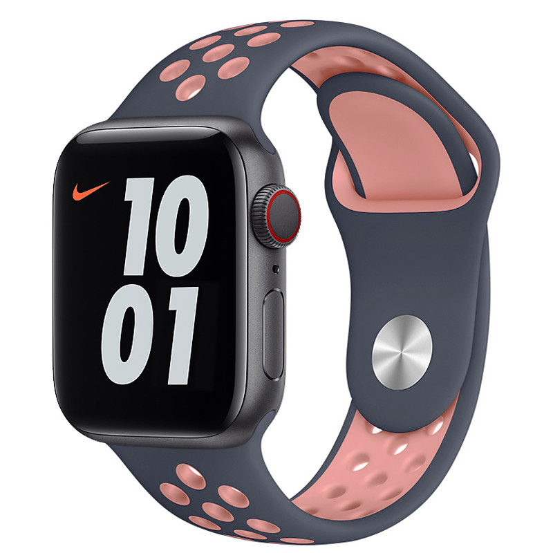 Ремінець для Apple Watch (38-40mm) Nike Sport Band Blue/Pink - 2