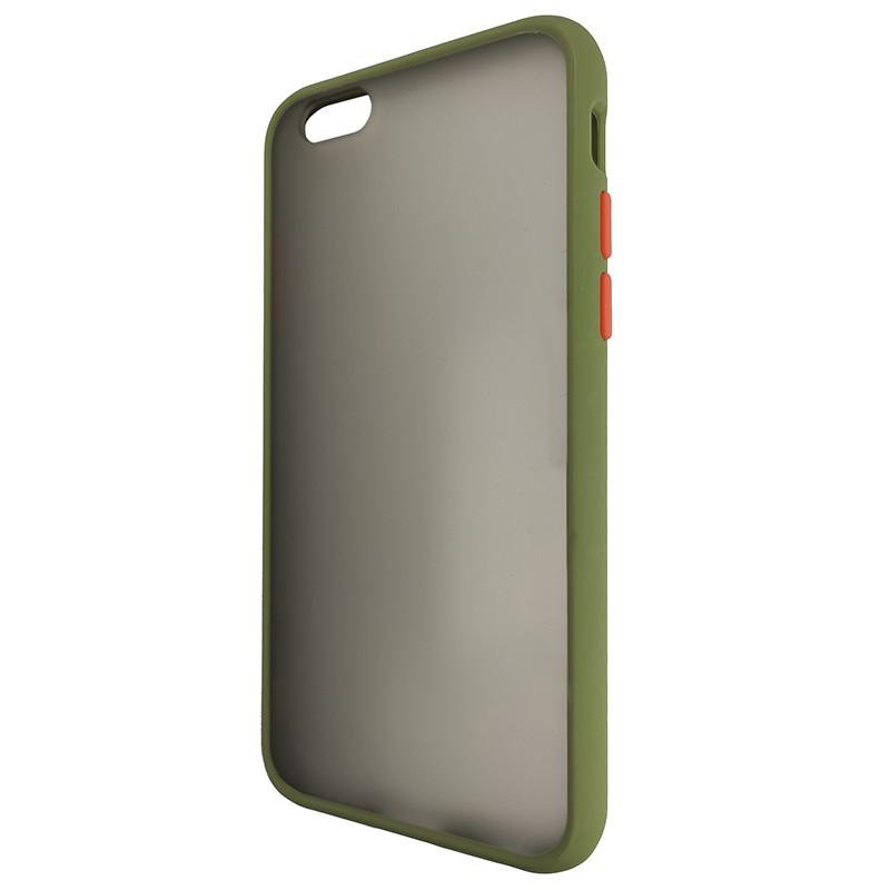 Чохол Totu Copy Gingle Series for iPhone 6 Dark Green+Orange - 3