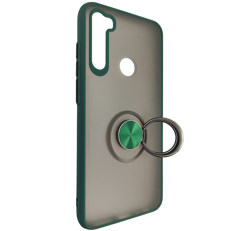 Чохол Totu Copy Ring Case Xiaomi Redmi Note 8T Green+Black - 2