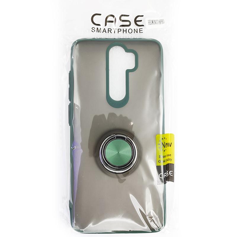 Чохол Totu Copy Ring Case Xiaomi Redmi Note 8 Pro Green+Black - 5