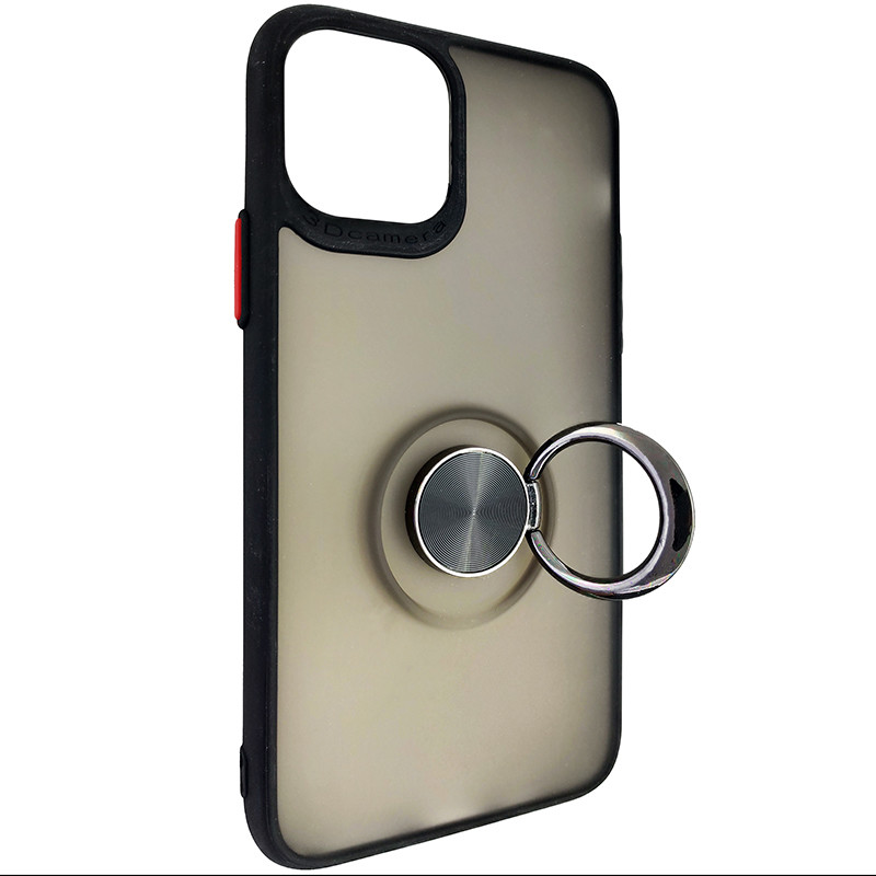 Чохол Totu Copy Ring Case iPhone 11 Pro Black+Red - 2
