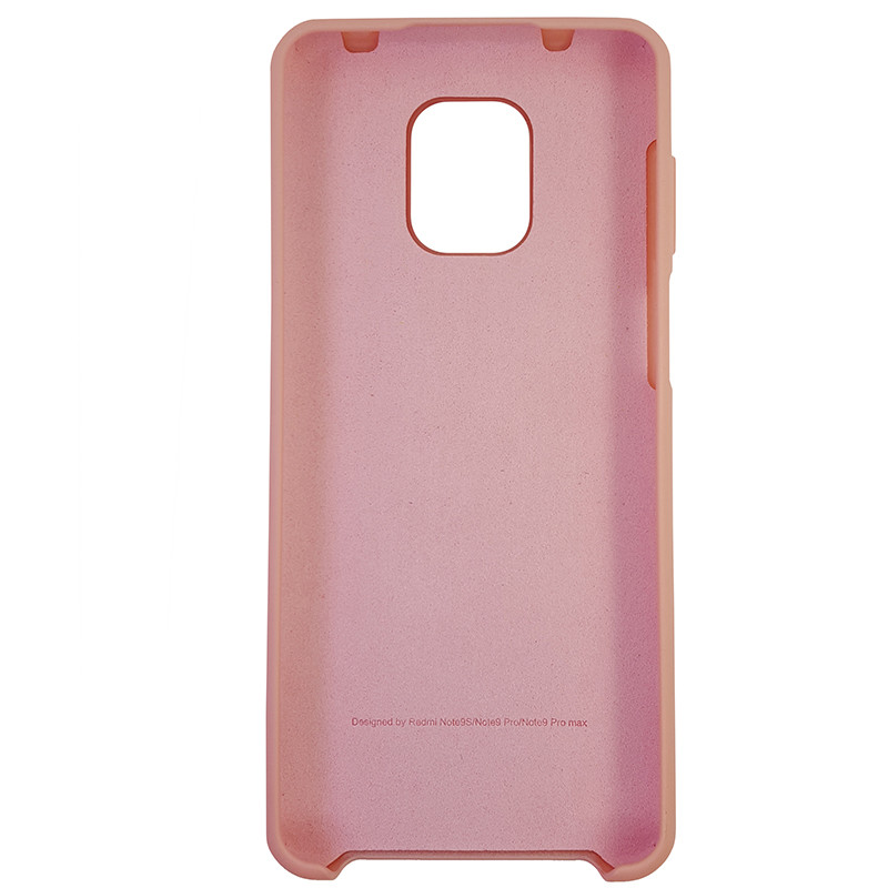 Чохол Silicone Case for Xiaomi Redmi Note 9S/9 Pro Light Pink (12) - 3