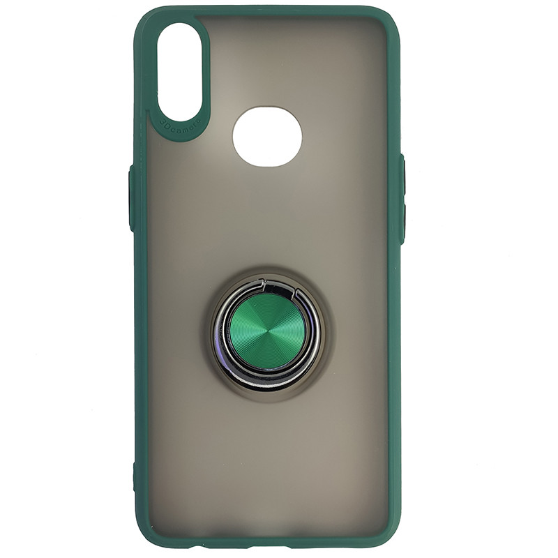 Чохол Totu Copy Ring Case Samsung A10S Green+Black - 4