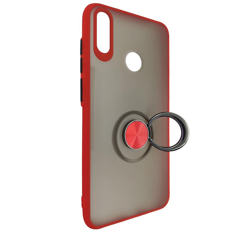 Чохол Totu Copy Ring Case Huawei Y7 2019 Red+Black - 2