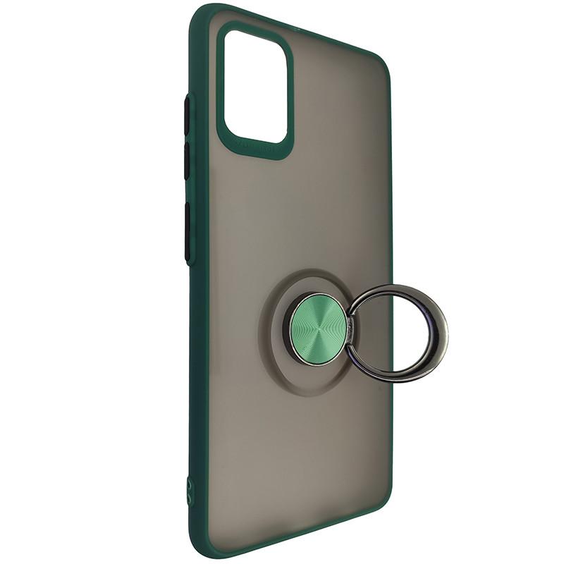 Чохол Totu Copy Ring Case Samsung A51/M40S Green+Black - 2