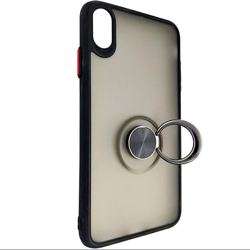 Чохол Totu Copy Ring Case iPhone XS MAX Black+Red - 2