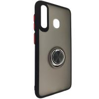 Чохол Totu Copy Ring Case Samsung A20/A30/M10S Black+Red