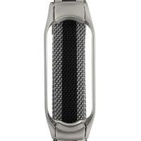 Ремінець для фітнес браслету Mi Band 5 Milanese Silver/Black