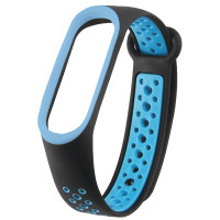 Ремінець для фітнес браслету Mi Band 5/6 Sport Band Nike Black/Blue