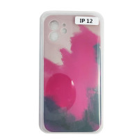 Чохол Silicone Water Print iPhone 12 Mix Color Red