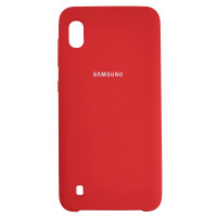 Чохол Silicone Case for Samsung A10 Red (14)