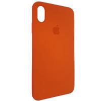 Чехол Copy Silicone Case iPhone XS Max Orange (13)