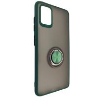 Чохол Totu Copy Ring Case Samsung A51/M40S Green+Black