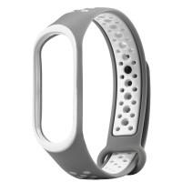 Ремінець для фітнес браслету Mi Band 3/4 Sport Band Nike Gray/White