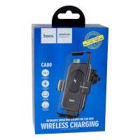 Автотримач Hoco CA80 Buddy smart Wireless Fast Charging