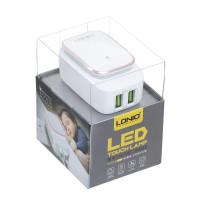 Мережевий Зарядний Пристрій LDNIO A2205 2USB 2.4A Micro White