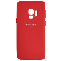 Чехол Silicone Case for Samsung S9 Red (14)