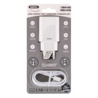 Мережевий Зарядний Пристрій Remax RP-U37 QC + PD 18W Lightning to Type-C White