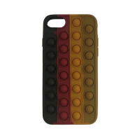 Чохол Pop it Silicon case iPhone 6/7/8  Black+Red+Brown