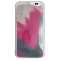 Чохол Silicone Water Print iPhone XR Mix Color Red