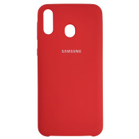 Чехол Silicone Case for Samsung M20 Red (14)