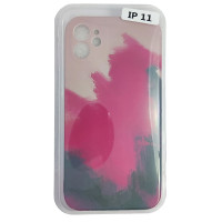 Чехол Silicone Water Print iPhone 11 Mix Color Red