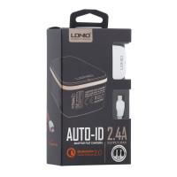 Мережевий Зарядний Пристрій LDNIO A1204Q QC3.0 18W Micro White