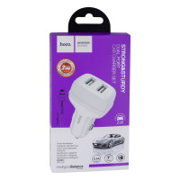 Автомобільний Зарядний Пристрій Hoco Z36 Lightning 2USB White