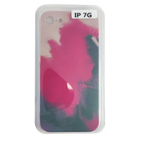 Чохол Silicone Water Print iPhone 7/8 Mix Color Red