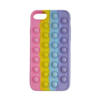 Чохол Pop it Silicon case iPhone 6/7/8  Pink+Yellow+Blue