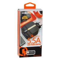 Мережевий Зарядний Пристрій Moxom MX-HC09 Type-C QC 3.0 4USB Black